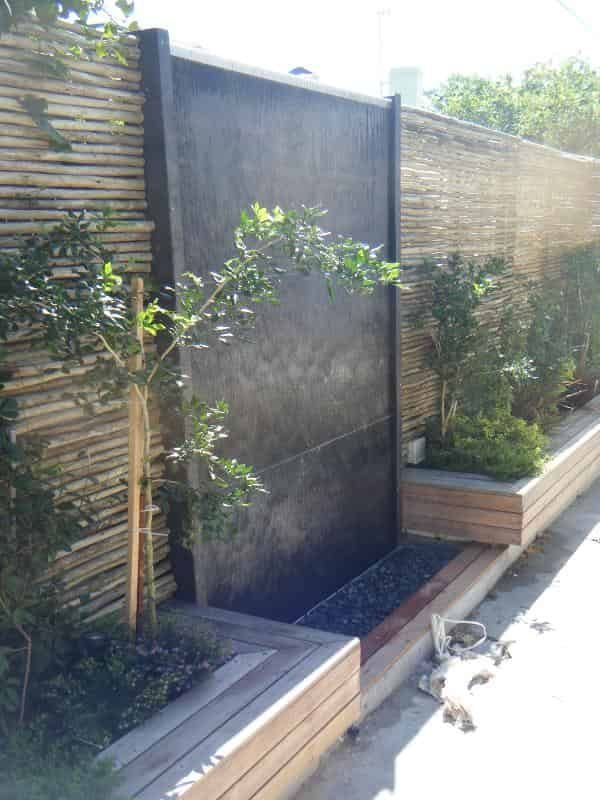 Outdoor Water Features Prefab corten cladded wetwall - CBD