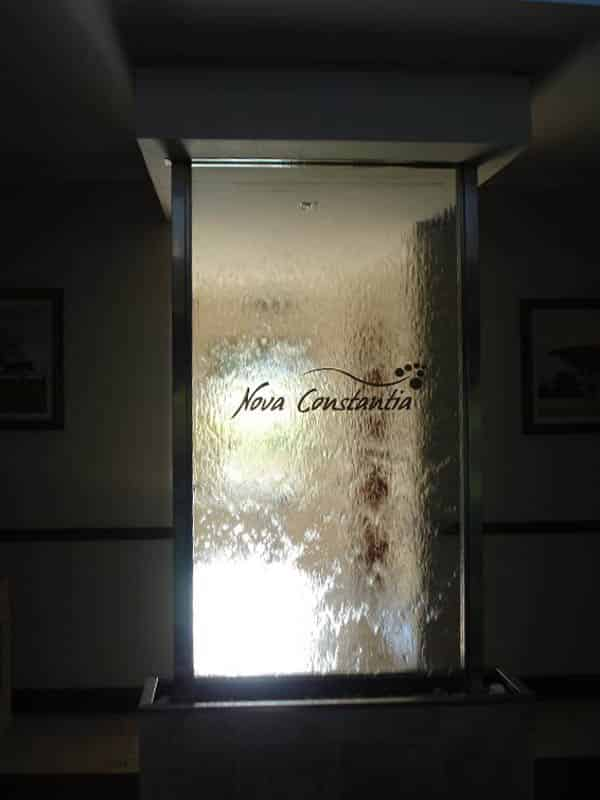 Prefab glass water feature for Guest house - Constantia